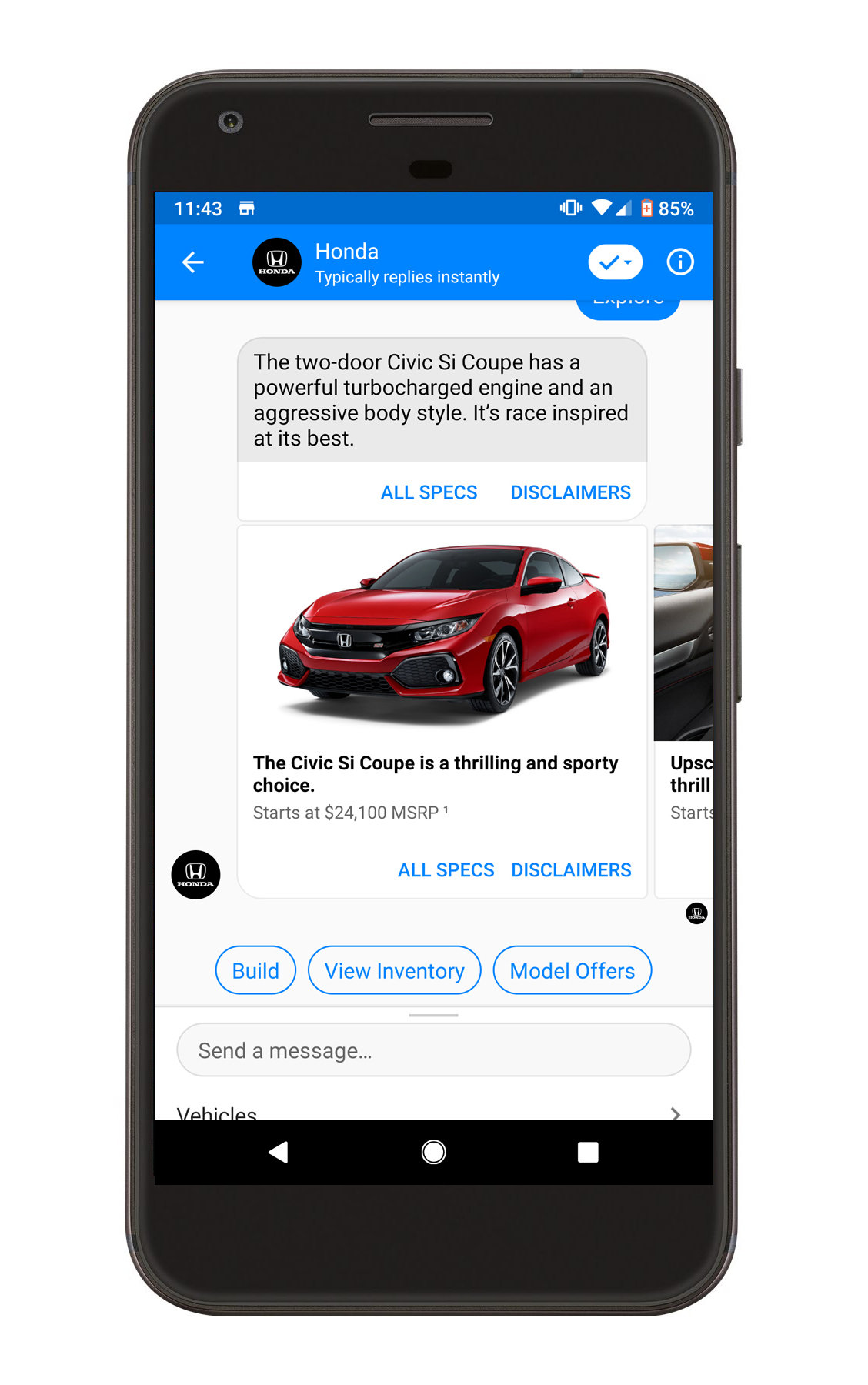 honda chatbot conversational assistant